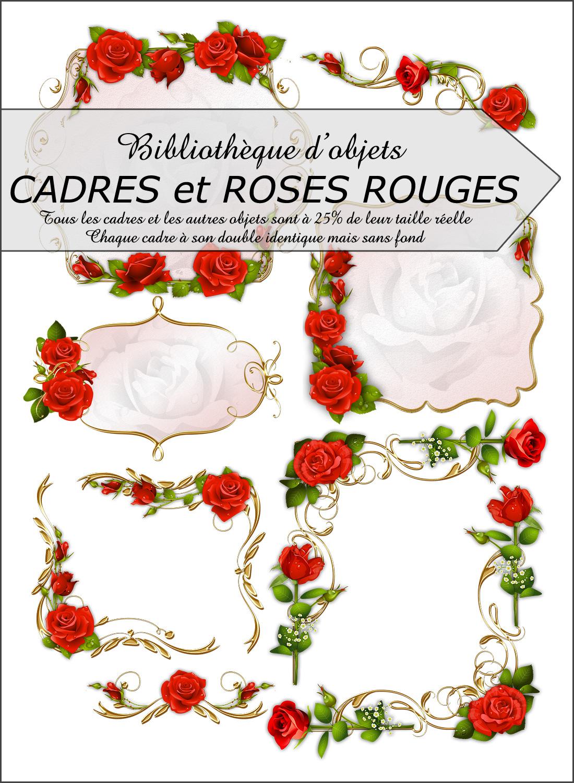 Biblioth que d corations cadres et roses rouges for Cadre pour objet decoratif